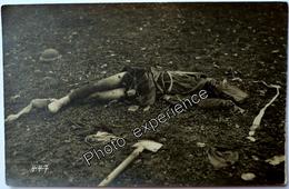 CPA Carte Photo Guerre 14-18 Militaire Ecossais Mort Dead Scottish Military WW1 - Guerra 1914-18