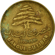 Monnaie, Lebanon, 25 Piastres, 1970, TB, Nickel-brass, KM:27.1 - Liban