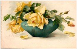 C. KLEIN - Roses Jaunes - Klein, Catharina
