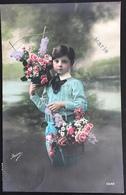 (360) Vive Maria - Mooie Jongen Met Rode Wangen En Veel Bloemen -1912 - Fête Des Mères