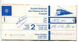 Billet De Train Paris / Munich Et Retour - Décembre 1970 - Chemins De Fer