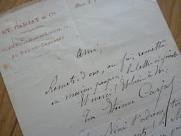 Etienne CARJAT - Autographes