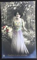 (356) Vive Maria - Cueillies à Votre Intention - Een Mooi Meisje Met Een Mooi Bebloemd Kleed - 1912 - Fête Des Mères