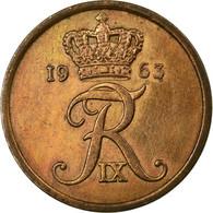 Monnaie, Danemark, Frederik IX, 5 Öre, 1963, Copenhagen, TB+, Bronze, KM:848.1 - Danemark