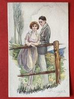 Illustrateur BOMPARD - KOPPEL IN LANDSCHAP - COUPLE DANS JARDIN - Bompard, S.