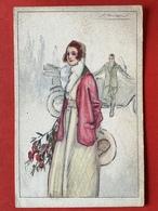 Illustrateur MAUZAN - DAME MET BLOEMEN - OLDTIMER - FEMME ET FLEURS - Mauzan, L.A.