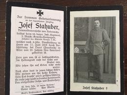 Sterbebild Wk1 Bidprentje Wo1 Avis Décès Deathcard IR16 MGK Ourci Durci 17. Juni 1918 Aus Noderwichs - 1914-18