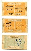 Ville De Munich (Allemagne) Transports En Commun / Stadtwerke München Verkehrsbetriebe / Année 1970 - Tramways