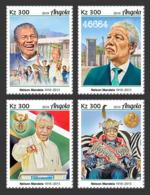 Angola 2019 Nelson Mandela 100th Aniv Nobel Peace Prize 4v Set ANG190125a - Stamps
