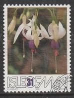 Isle Of Man 1988 The 50th Anniversary Of The Fuchsia - Association 31 P Multicoloured SW 374 O Used - Isle Of Man