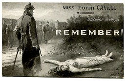 Remember Miss Edith Cavell (2 Scans) - Oorlog 1914-18