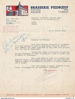 Courrier De La Brasserie Piedboeuf S.A. De Jupille Adressée Au Notaire Van Den Berg De Liège Datée Du 24/10/1942 WWII - Ambachten