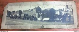 Rare Photographie Panoramique Véhicules Etablissements Antoine Woitrin Boulevard Du Nord Namur Début 1900 - Profesiones
