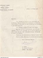 Lettre Fabrique D'église St-Lambert Pour L'ouverture Soumission Remplacement Cloche D'Orbais 18 Mars 1965 - Artesanos
