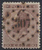 """émission 1865 - N°19 Obl Concours Pt 307 """"Rance"""". Superbe ! - 1865-1866 Profil Gauche"""