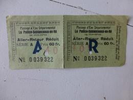 17 Passage D'eau La Pallice-Sablanceaux-en-Ré, Ticket Vers 1946 ; PAP03 - Eintrittskarten