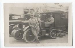Carte-photo MAILLY (Aude) ; Soldats Et Voilure à Chenilles ; 1914 - 1918 - Non Classificati