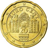 Autriche, 20 Euro Cent, 2005, SUP, Laiton, KM:3086 - Autriche