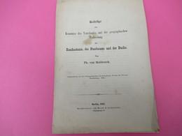 Fascicule/Beiträge Zur Kenntniss Des Vaterlandes Und Der Geographischen /ThéodoreVon HELDREICH/Berlin /1879   MDP93 - Livres, BD, Revues