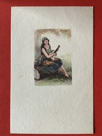 Illustrateur MAUZAN - ZIGEUNERIN - GITANE - Gypsy Girl, Bohémienne - GITAAR - GITARE - Mauzan, L.A.