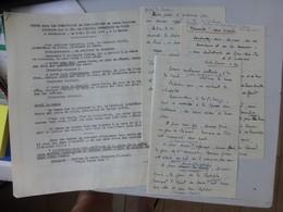 Messe Pour Les Combattants De DIEN-BIEN-PHU 1954, Notre-Dame De Paris, 5 Documents ; Ref262 ; PAP03 - Documents Historiques
