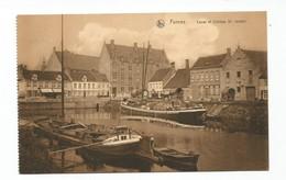 Veurne Canal Et Collège Saint Joseph Furnes Boot Bateau Scheepvaart Ship - Veurne