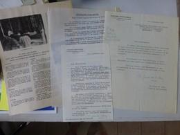 Consécration De L'église Sainte-Odile 1956, Lot 4 Documents, Autographes Girod De L'Ain ; Ref278 ; PAP03 - Historische Documenten