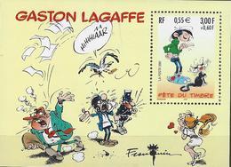 BF 34 FRANCE 2001 BLOC 34 FETE DU TIMBRE GASTON LAGAFFE FRANQUIN - Sheetlets