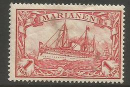 Mariana Islands - 1901 Kaiser's Yacht 1mk MH *    Sc 26 - Colony: Mariana Islands