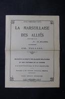 MILITARIA - Chanson Patriotique De La Marseille Des Alliés - L 33574 - Dokumente
