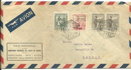 CARTA 1948   VIAJE MINISTERIAL - Guinée Espagnole