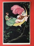 Illustrateur CORBELLA - ART DECO - PIERROT - AMOUREUX - LUNE - VERLIEFD SAMEN OP DE MAAN - Corbella, T.
