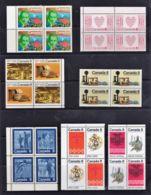 Canada 1970s 8c Era Blocks Of 4 MNH - 2 Scans - Unused Stamps