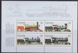 Canada 1984 Railway Locomotives (2nd Series) Minisheet MNH - Unused Stamps