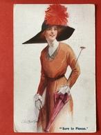 1915 - Illustrateur CH. BARBER - SURE TO PLEASE - GRAND CHAPEAU PLUMES ROUGES - GROTE HOED RODE PLUIMEN - Illustrateurs & Photographes