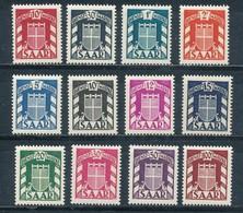 Saarland Dienstmarken 33/44 ** Mi. 150,- - Ohne Zuordnung
