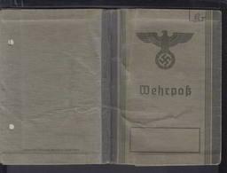 DR Wehrpaß Kraftfahrer Heimatkraftfahrdienst Breslau Schlesien 22.9.1939 Stationiert Italien/Kroatien/Slowenien - Historische Dokumente