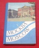 Dépliant Touristique Moscou Années 50 Photos Avec Animations Et Voitures Soviétiques - Folletos Turísticos