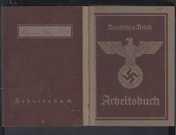 DR Arbeitsbuch Bürohilfskraft PIV Antrieb Werner Reimers KG Bad-Homburg VdH 16.6.1941 Frankfurt - Historische Dokumente