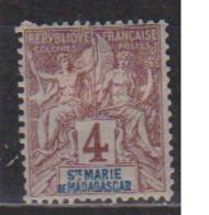 SAINTE MARIE           N°  YVERT  :    3         NEUF AVEC  CHARNIERES      (  CH 02/28  ) - Madagascar - Sainte-Marie (1894-1898)