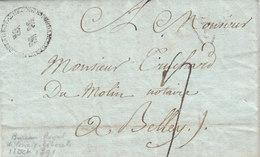 France 1791 LAC Entire Letter Paris BUREAU ROYAL DE CORRESPONDANCE Fleur De Lys To Bellay (q92) - 1701-1800: Precursori XVIII