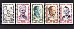 FRANCE 1959 -  SERIE Y.T. N° 1198 A 1202  - 5 TP NEUFS** - Neufs