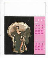 Calendrier érotique Genre Emmanuelle 6 Pages De 1982 - Calendriers