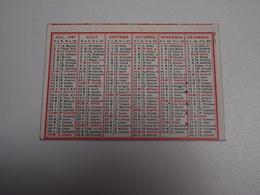 CALENDRIER , 1887, Carte Recto Verso, Six Mois - Kalenders