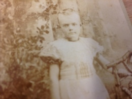 VOORBURG - L. WELTER - CUTE LITTLE GIRL - 1896 - 5 YEARS OLD - Persone Anonimi