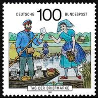 T.-P. Gommé Neuf** - Journée Du Timbre Facteur En Barque Et Femme En Costume Régional - N° 1402 (Yvert) - RFA 1991 - Nuevos
