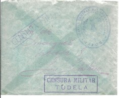 CENSURA MILITAR TUDELA    MARCA DEL CARTEL GENARAL DEL GENERALISIMO - Marques De Censures Nationalistes