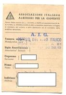 Carte Auberge Jeunesse Italienne / 1974 - Autres