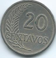 Peru - 1921 - 20 Centavos - KM215.1 (un Mil Novecientos Veintiuno) - Peru