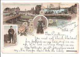 Amsterdam Kleuren Litho 1895!! Dubbelring Proefstempel 24.10.95 Hangend Haar 5ct HC35 - Amsterdam
